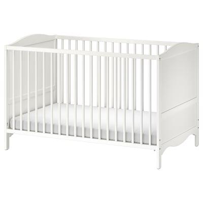 """SMÅGÖRA Crib, white, 27 1/2x52 """""""