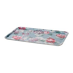 SMAKSINNE tray, multicolor, flower