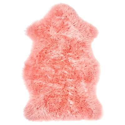 "SMIDIE sheepskin, dyed pink 2 ' 4 "" 1 ' 4 "" 3.23 sq feet"