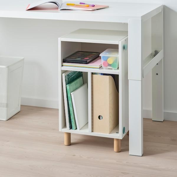 SMUSSLA Bedside table/shelf unit, white