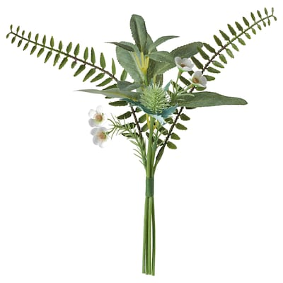 "SMYCKA Artificial bouquet, indoor/outdoor green, 12 ¼ """