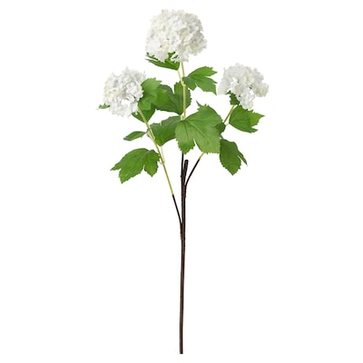 SMYCKA Artificial flower, snowball/white, 23 ½ ""