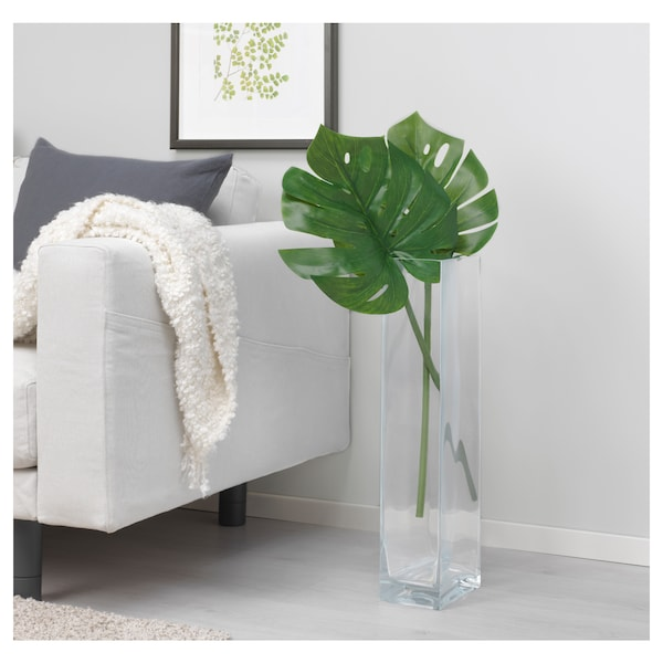 "SMYCKA artificial leaf monstera/green 31 ½ """