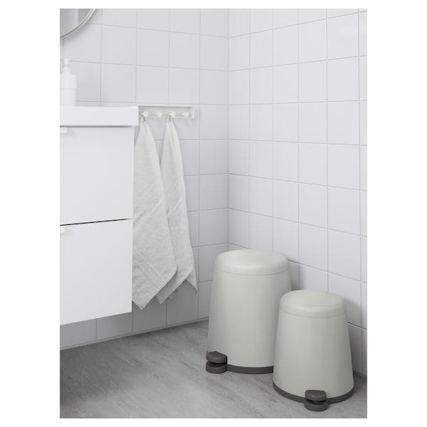 SNÄPP Pedal bin, white, 3 gallon