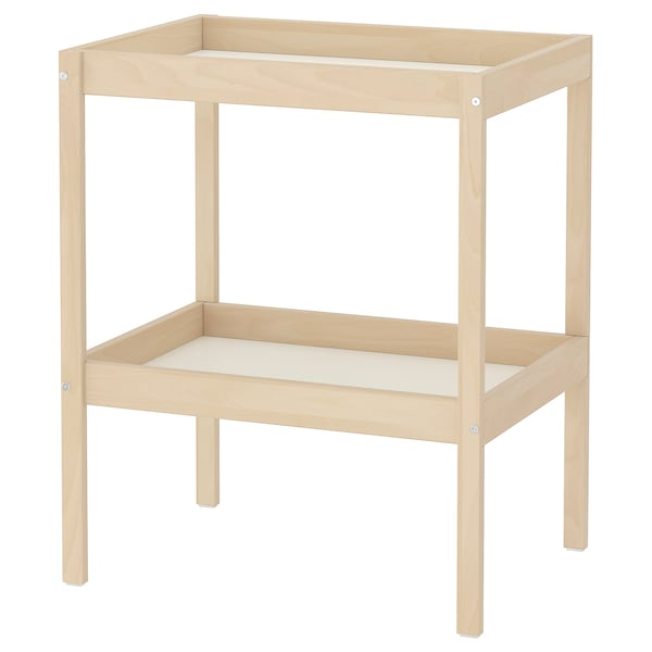 SNIGLAR Changing table, beech/white, 28 3/8x20 7/8 ""