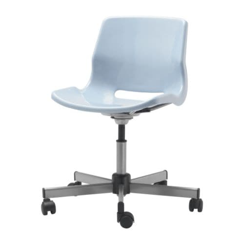 "SNILLE Swivel chair blue Width: 26 3/8 "" Depth: 26 3/8 "" Max. height: 32 5/8 "" Seat width: 18 1/8 "" Seat depth: 15 3/8 "" Min. seat height: 15 3/8 "" Max. seat height: 20 1/8 ""  Width: 67 cm Depth: 67 cm Max. height: 83 cm Seat width: 46 cm Seat depth: 39 cm Min. seat height: 39 cm Max. seat height: 51 cm"