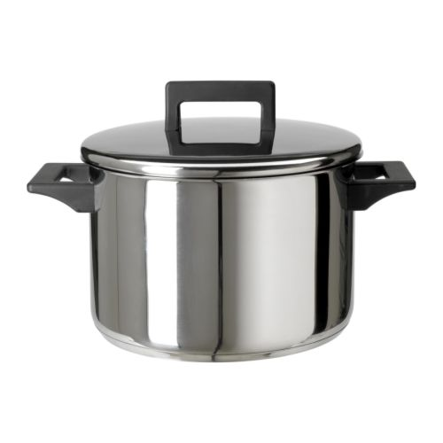 SNITSIG Pot with lid IKEA Works well on all types of cooktops, including induction cooktops.