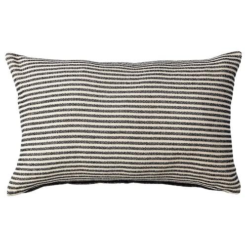 """SNÖFRID cushion cover black/off-white 16 """" 26 """""""