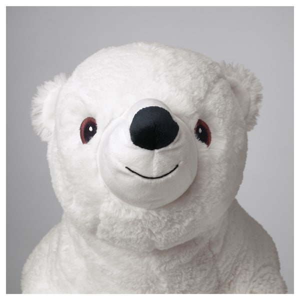 """SNUTTIG soft toy polar bear/white 23 ½ """""""