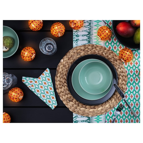SOARÉ Place mat, water hyacinth, 15 ""