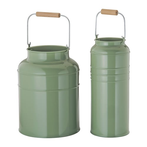 SOCKER Vase, set of 2 IKEA Suitable for both indoor and outdoor use.</t><t>Can be stacked inside one another to save room when storing.