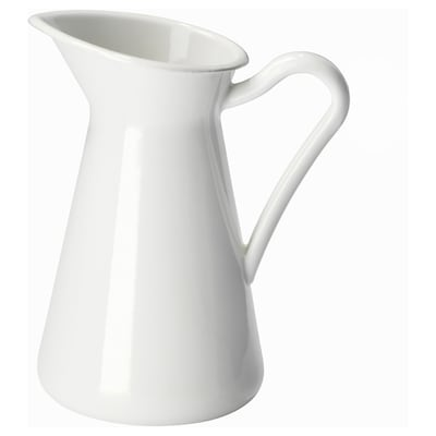 SOCKERÄRT Vase, white, 6 ""