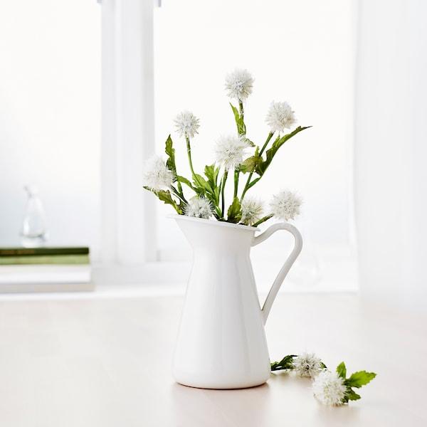 "SOCKERÄRT Vase, white, 6 """
