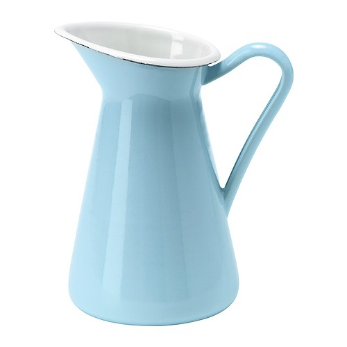 "SOCKERÄRT Vase light blue Height: 6 ¼ "" Volume: 20.3 oz  Height: 16 cm Volume: 0.6 l"