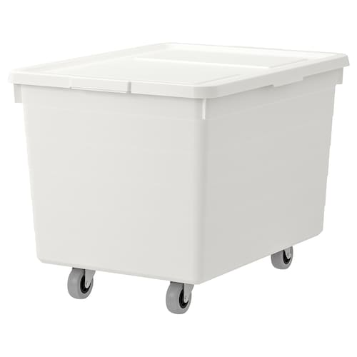 IKEA SOCKERBIT Box with casters and lid