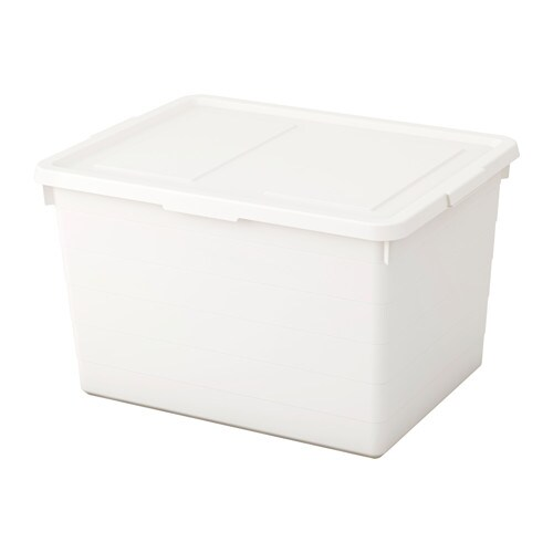SOCKERBIT Box with lid IKEA Practical for storing everything, from seasonal clothes and shoes to sports items and tools.