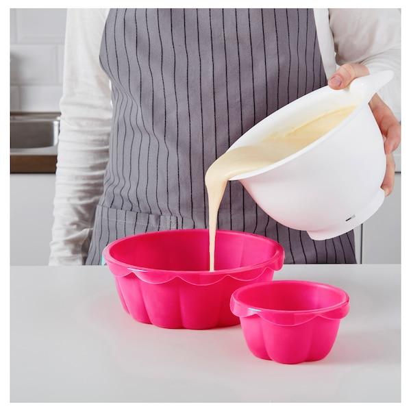 SOCKERKAKA Baking mold, set of 2, pink