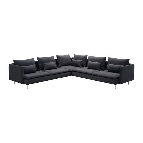 S derhamn corner sofa samsta dark gray ikea for Canape ikea soderhamn