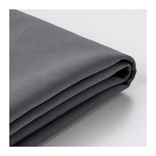 SÖDERHAMN Cover for ottoman, Samsta dark gray Samsta dark gray