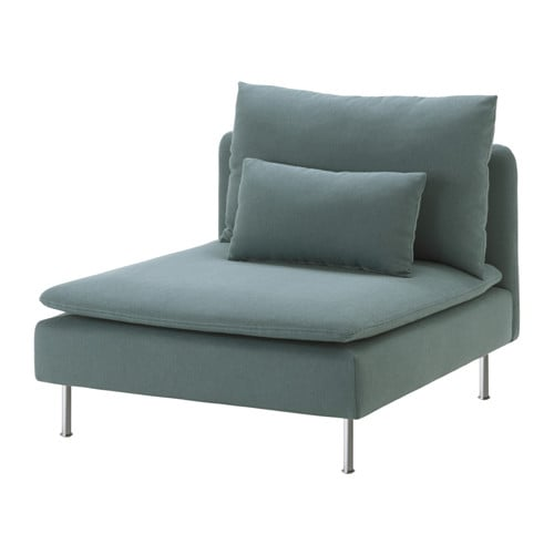 S derhamn one seat section finnsta turquoise ikea for Housse sofa ikea