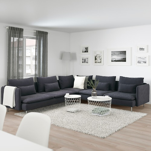 SÖDERHAMN Sectional, 5-seat IKEA SÖDERHAMN seating series allows you to sit deeply, low and softly with the loose back cushions for extra support.