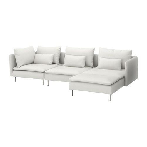 SÖDERHAMN Sectional, 4-seat - with chaise/Finnsta white - IKEA