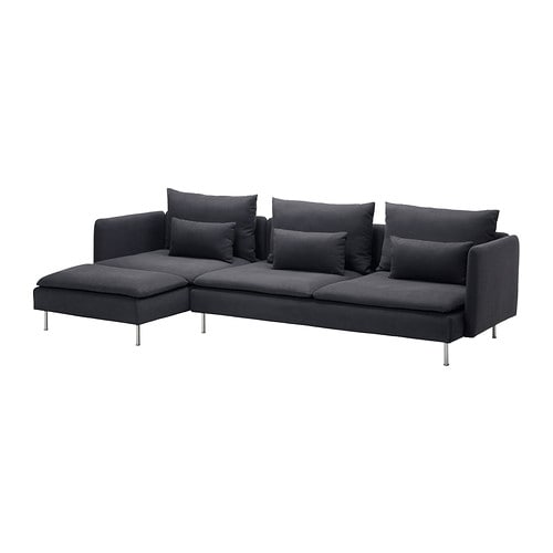 S derhamn sofa and chaise lounge samsta dark gray ikea Ikea lounge sofa
