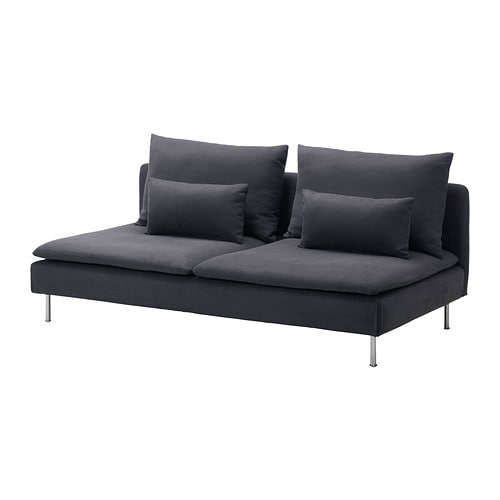 S derhamn sofa section samsta dark gray ikea - Canape angle tissu ikea ...