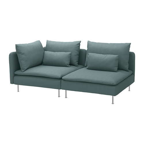 Soderhamn Sofa With Open End Finnsta Turquoise Ikea