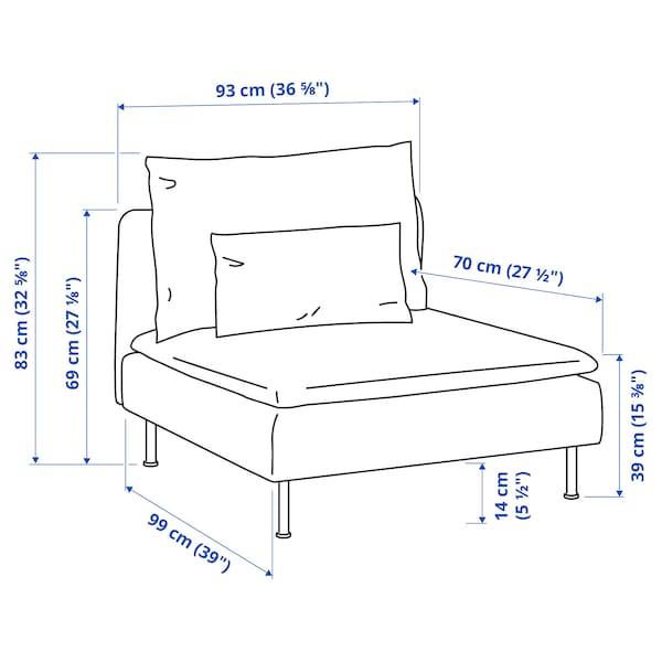 SÖDERHAMN 1-seat section, Viarp beige/brown