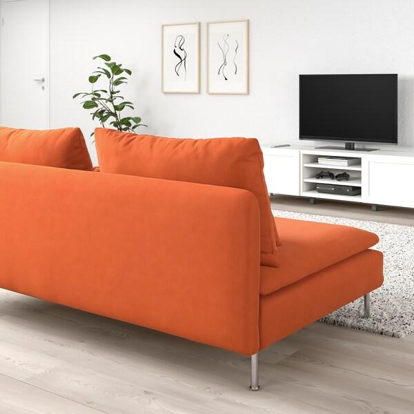 SÖDERHAMN Sofa section, Samsta orange - IKEA