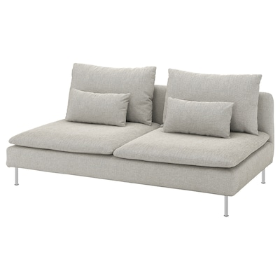 "SÖDERHAMN sofa section Viarp beige/brown 73 1/4 "" 39 "" 32 5/8 "" 73 1/4 "" 18 7/8 "" 15 3/4 """