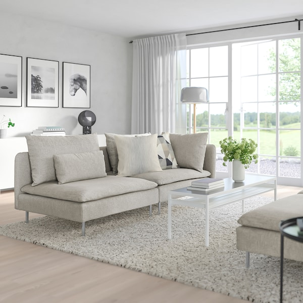 SÖDERHAMN Sofa - with open end, Viarp beige/brown - IKEA