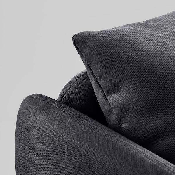 SÖDERHAMN Armchair, Samsta dark gray
