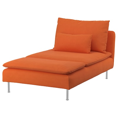 "SÖDERHAMN chaise Samsta orange 36 5/8 "" 59 1/2 "" 32 5/8 "" 36 5/8 "" 39 3/8 "" 15 3/4 """