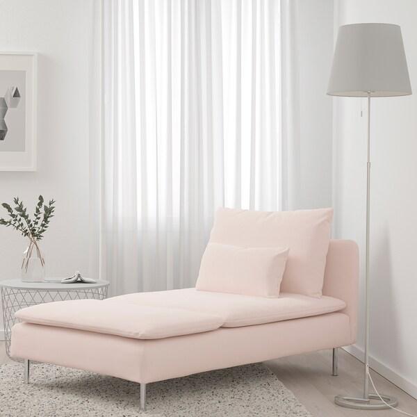 "SÖDERHAMN chaise Samsta light pink 36 5/8 "" 59 1/2 "" 32 5/8 "" 36 5/8 "" 39 3/8 "" 15 3/4 """