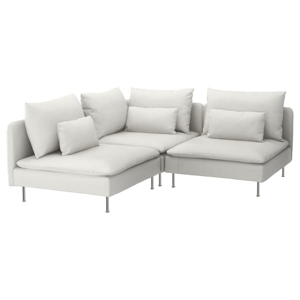 Sectional 3 Seat Corner Finnsta White