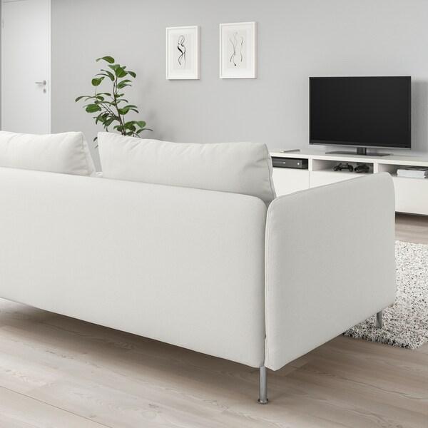 SÖDERHAMN Sectional, 4-seat corner, with open end/Finnsta white