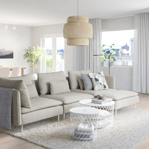 SÖDERHAMN Sectional, 4-seat, with chaise/Viarp beige/brown