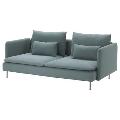 "SÖDERHAMN sofa Finnsta turquoise 32 5/8 "" 27 1/8 "" 78 "" 39 "" 5 1/2 "" 2 3/8 "" 73 1/4 "" 27 1/2 "" 15 3/8 """