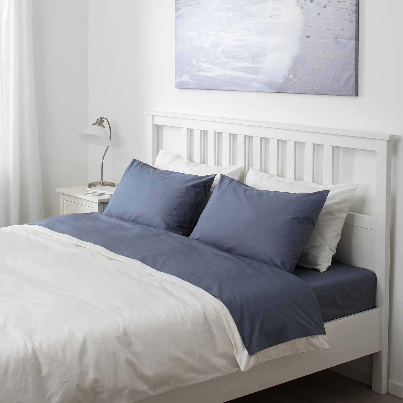 Light Blue Square Check Sheet Set