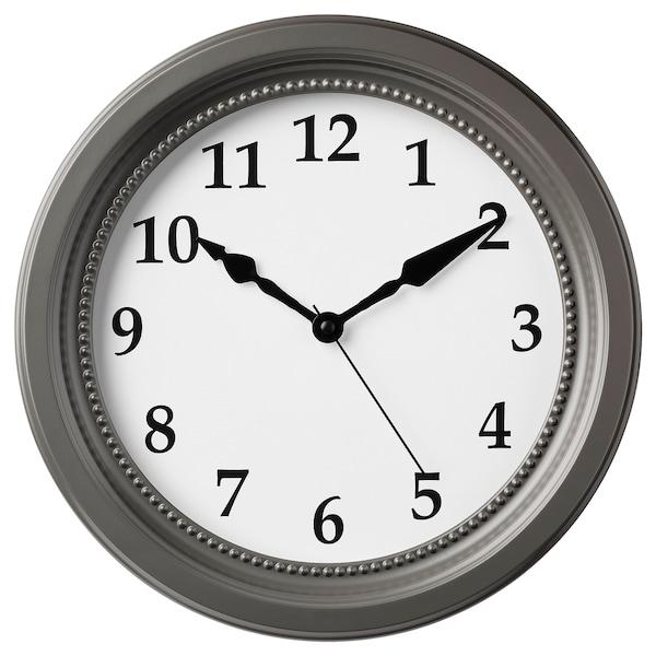 """SÖNDRUM Wall clock, gray, 13 ¾ """""""