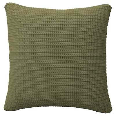 SÖTHOLMEN Cushion cover, in/outdoor, beige-green, 20x20 ""