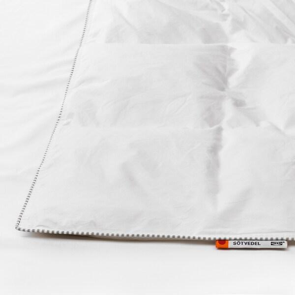 "SÖTVEDEL comforter, warmer 252 /inch² 86 "" 86 "" 25 oz 82 oz"
