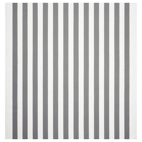 """SOFIA Fabric, wide stripe/white/gray, 59 """""""