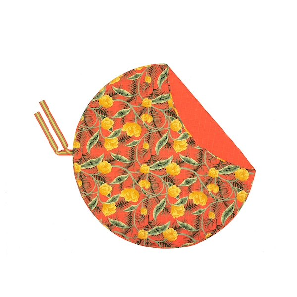 "SOLBLEKT picnic blanket floral pattern orange 66 7/8 "" 8 oz 29 oz"
