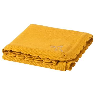 SOLGUL Baby blanket, dark yellow, 27 1/2x35 3/8 ""