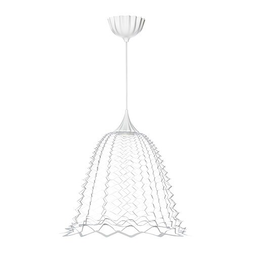 SOLKULLEN LED pendant lamp IKEA Projects decorative patterns onto the ceiling and on the wall.