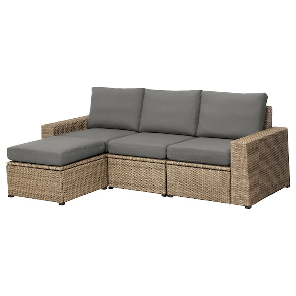 Superb 3 Seat Modular Sofa Outdoor Solleron With Footstool Brown Brown Froson Duvholmen Dark Gray Dailytribune Chair Design For Home Dailytribuneorg