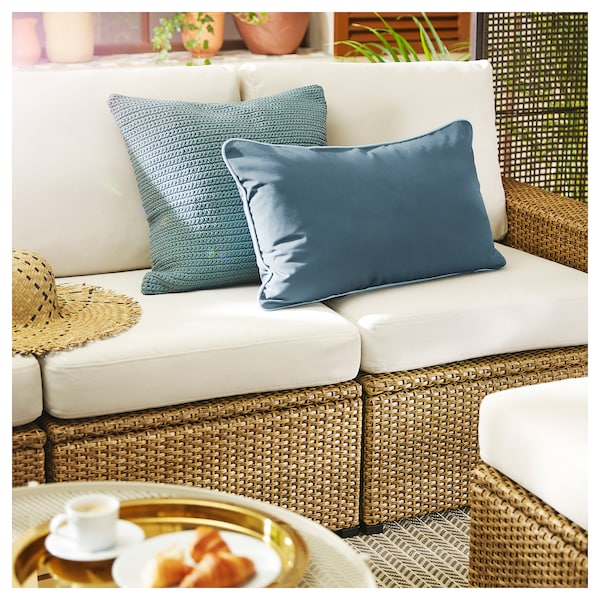 Divani In Rattan Ikea.Solleron 3 Seat Modular Sofa Outdoor Brown Froson Duvholmen